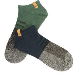 EarthHero - Forest Green/Dark Ocean Recycled Polyester Ankle Socks 2pk - 1