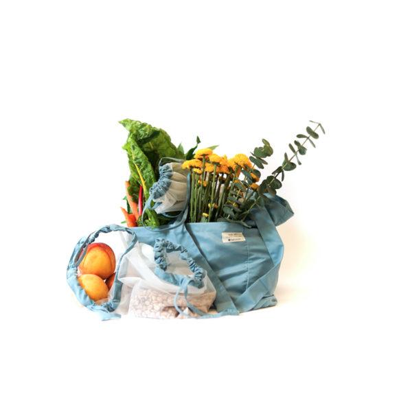 EarthHero - Tote-Ally Reusable Produce Bags 4pk -  Blue