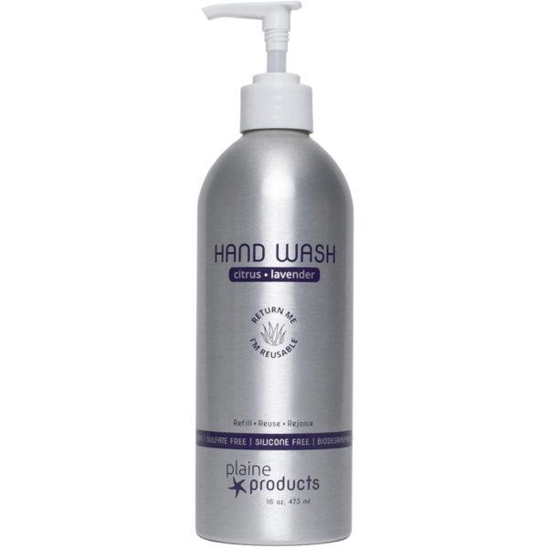 EarthHero - Plaine Products Refillable Natural Hand Soap 16oz - Citrus Lavender