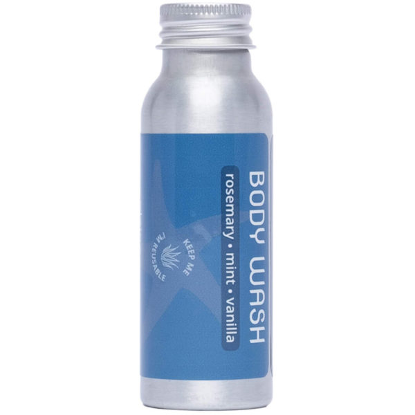 EarthHero - Plaine Products Refillable Travel Size NaturalBody Wash - Rosemary