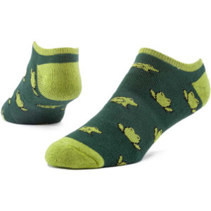 EarthHero - Organic Cotton Biodiversity Cushioned Footie Socks - Green Frogs