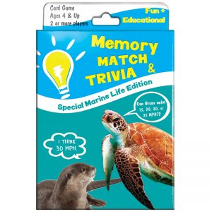 EarthHero - Memory Match and Kids Trivia Playing Card Game - Marine Life