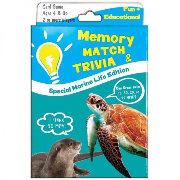 EarthHero - Memory Match and Kids Trivia Playing Card Game - Marine Life