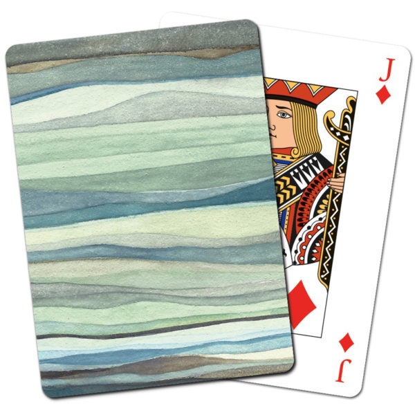 EarthHero - Recycled Paper Playing Cards - Watercolor Waves