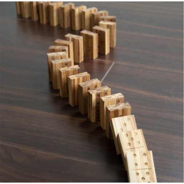 EarthHero - Recycled Bamboo Dominoes Game 4