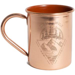 EarthHero - Keep it Wild Enamel Lined Copper Mug 14oz - 1
