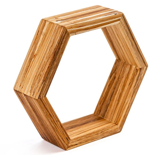 EarthHero - Hexagon Bamboo Shelf 1
