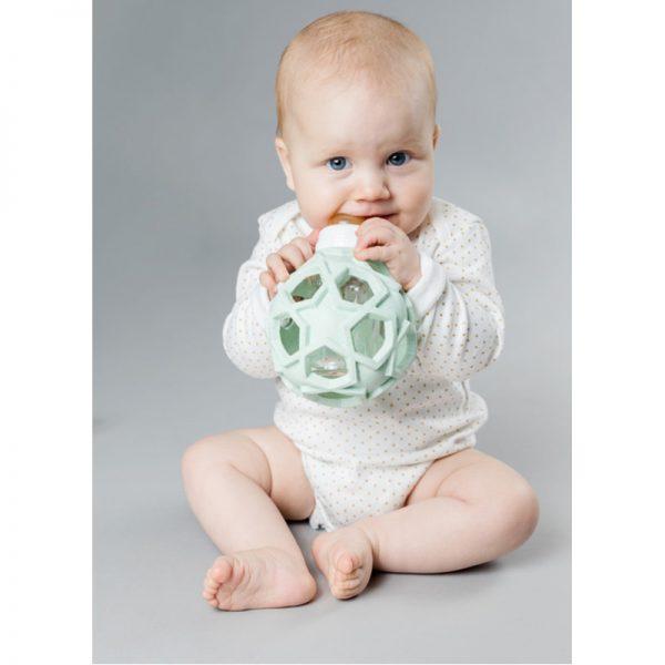 EarthHero - 2-in-1 Glass Baby Bottle w/ Star Ball Cover - 2