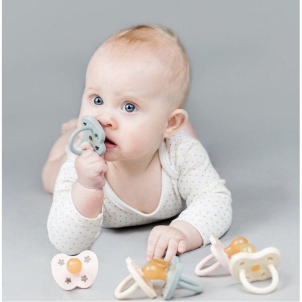 EarthHero - Mint Newborn Natural Rubber Pacifier - 3