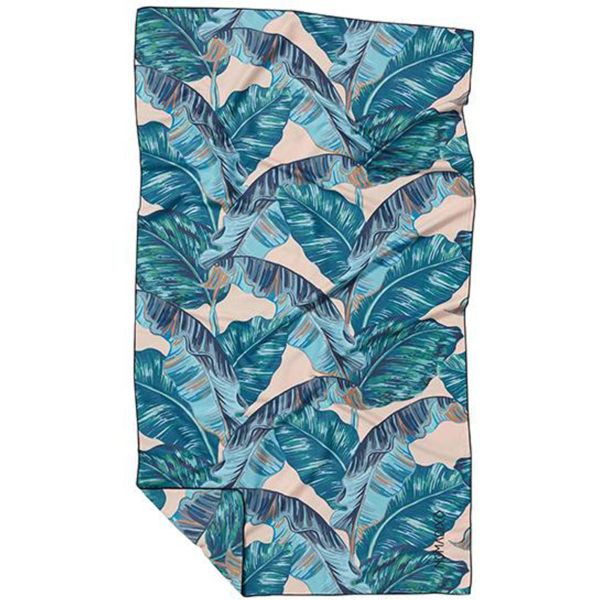 EarthHero - Nomadix Teal Banana Leaf Ultralite Travel Towel - 1