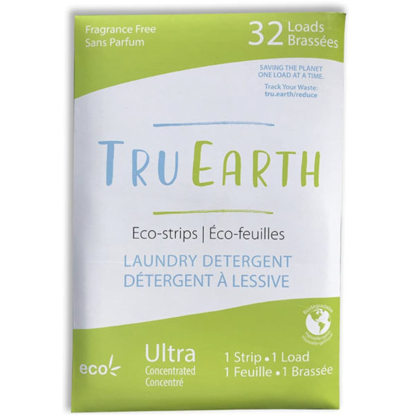 EarthHero - Fragrance Free Laundry Detergent Strips - 32 loads