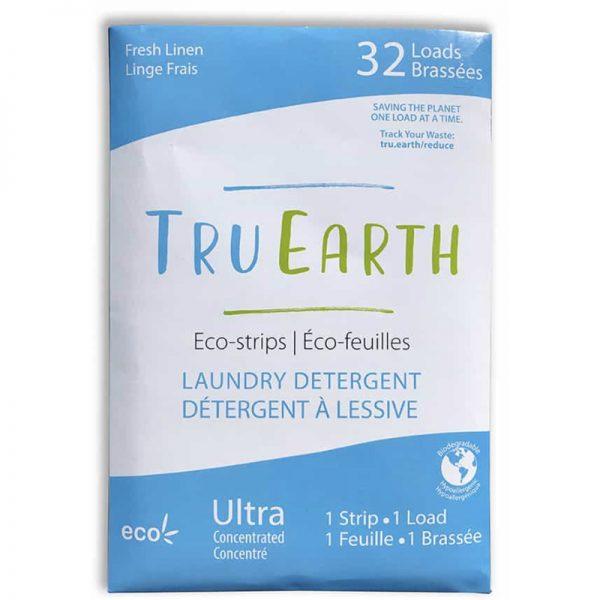 EarthHero - Fresh Linen Laundry Detergent Strips - 32 loads