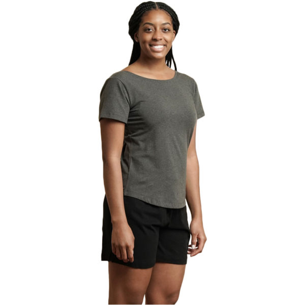 EarthHero - Organic Cotton Essential Women's Tee - Heather Grey