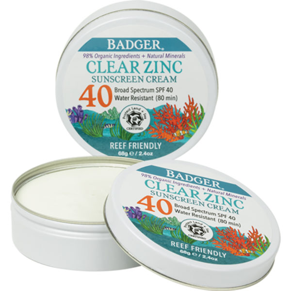 EarthHero - Clear Sport Zinc Oxide Sunscreen Tin - SPF 40 2.4oz 1