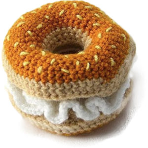 EarthHero - Hand Crochet Bagel Dog Toy - 1