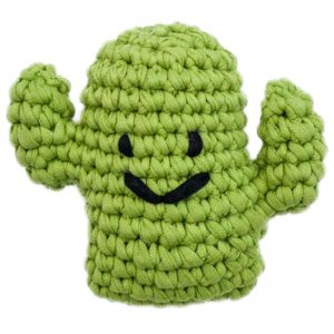 EarthHero - Hand Crochet Cactus Dog Toy - 1