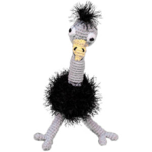 EarthHero - Hand Crochet Ostrich Dog Toy - 1
