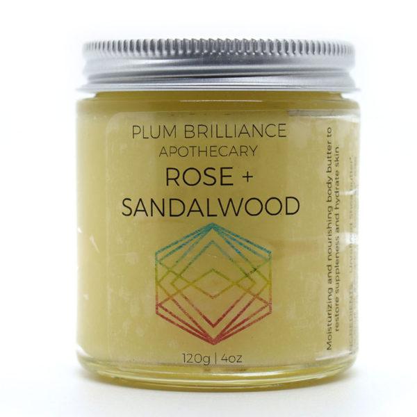 EarthHero - Rose + Sandalwood Natural Body Butter 4oz - 1
