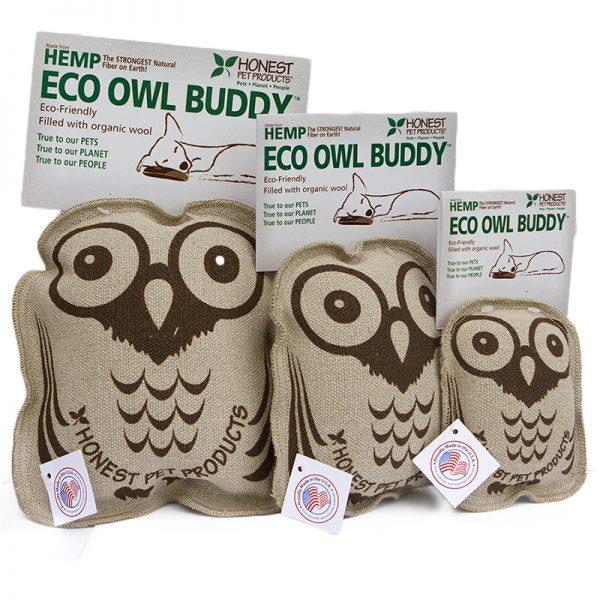 EarthHero - Eco Owl Buddy Dog Toy - 1