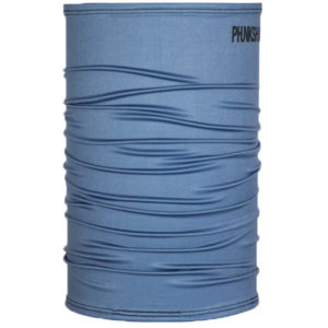 EarthHero - Phunkshun Wear Solid Neck Tube Blue Slate - 1