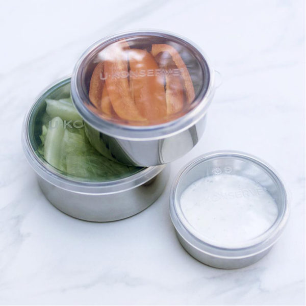 EarthHero - Stainless Steel Round Medium Clear To Go Food Storage Container - 9oz 5
