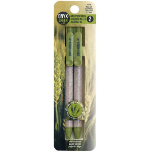 EarthHero - Retractable Wheat Straw Black Gel Pen - 2pk 1
