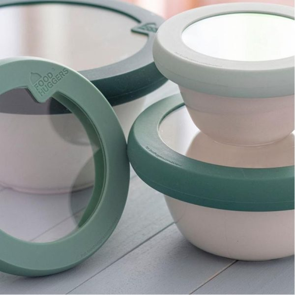 EarthHero - Food Huggers Green Bowl Lids - 3
