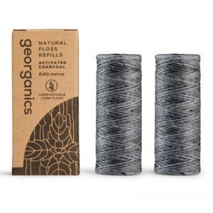 EarthHero - Vegan Compostable Floss Refill - Activated Charcoal