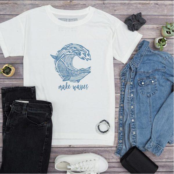 EarthHero - Make Waves Oversized Organic Cotton Tee - 2