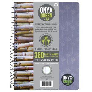 EarthHero - Sugarcane Paper 5 Subject Notebook - 180 sheets 1