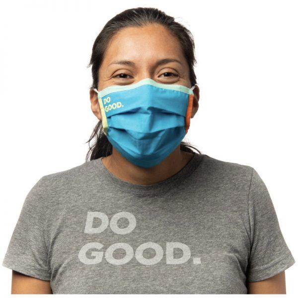 EarthHero - Cotopaxi Teca Cotton Blue Jay Face Mask - 2