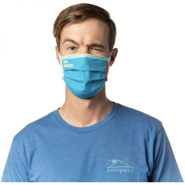 EarthHero - Cotopaxi Teca Cotton Blue Jay Face Mask - 3