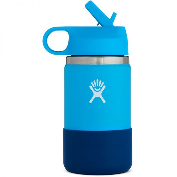 EarthHero - Hydro Flask Kids Wide Mouth Water Bottle 12oz - Pacific / Cobalt