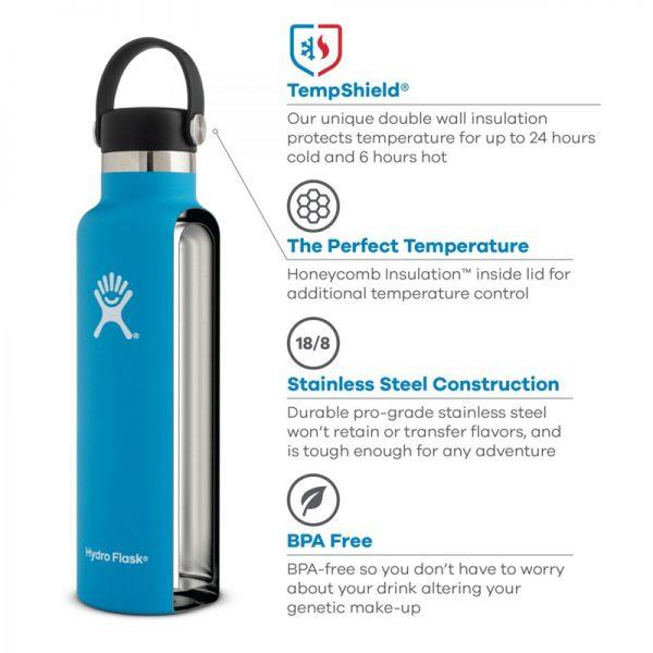 EarthHero - Hydro Flask Standard Mouth Water Bottle 24oz - 2