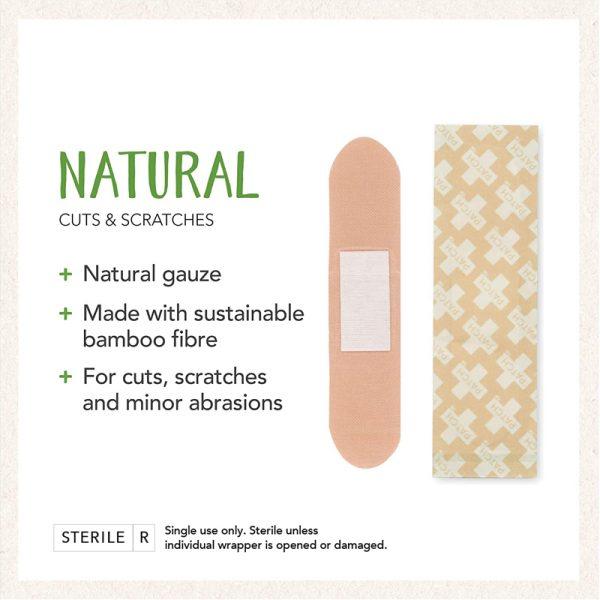 EarthHero - Natural Bamboo Bandages 25ct - 2