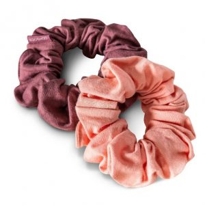 EarthHero - Coral Rose Organic Hair Scrunchies 1