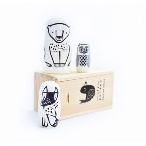 EarthHero - Wee Gallery Forest Friends Kids Nesting Dolls - 3