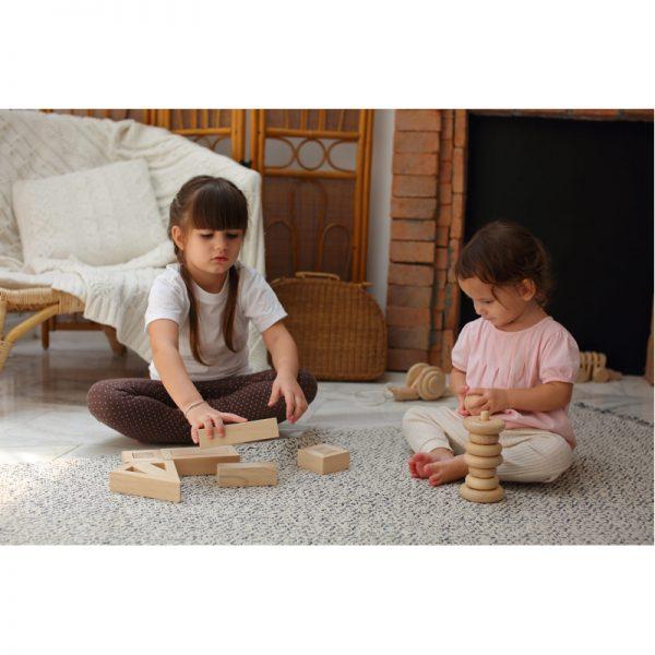 EarthHero - Hollow Wooden Toy Blocks - 4