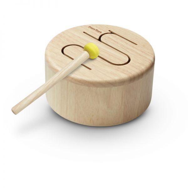 EarthHero - Kids Solid Wooden Drum -1