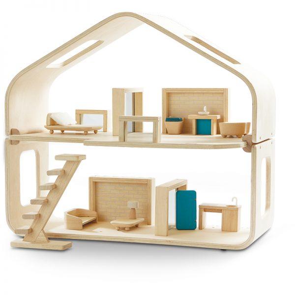 EarthHero - Pretend Play Contemporary Dollhouse Set - 1
