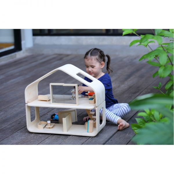 EarthHero - Pretend Play Contemporary Dollhouse Set - 4