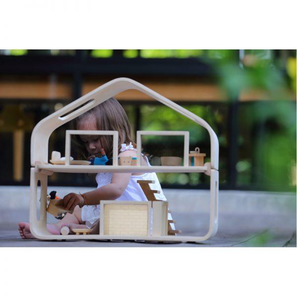 EarthHero - Pretend Play Contemporary Dollhouse Set - 6