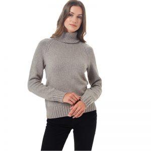 EarthHero - Tentree Women's Highline Wool Turtleneck Sweater Desert Taupe Heather - 1