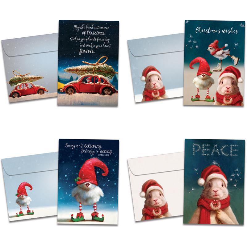 Fun & Festive Holiday Cards 16pk   Tree Free Greetings   EarthHero