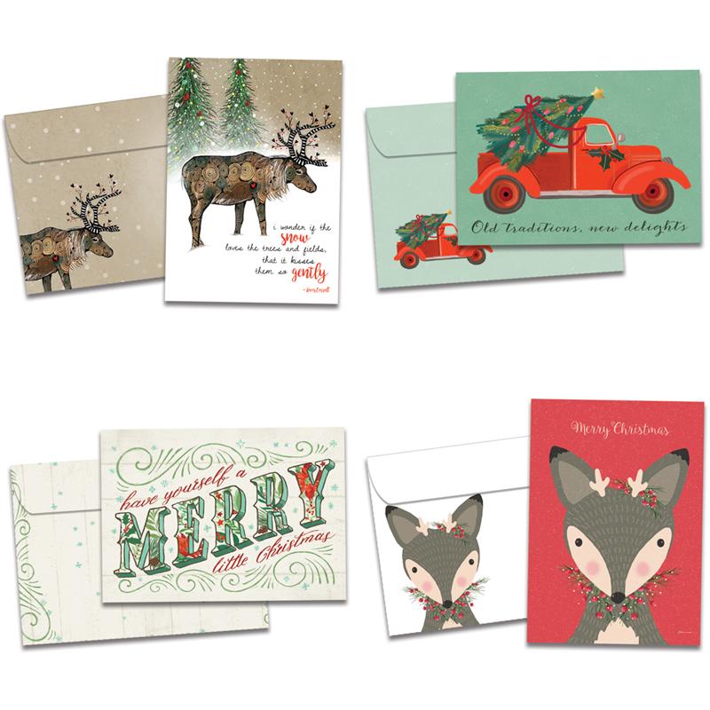 Tree-Free Greetings - Christmas 2020 Art & Soul Holiday Cards 16pk | Tree Free Greetings | EarthHero