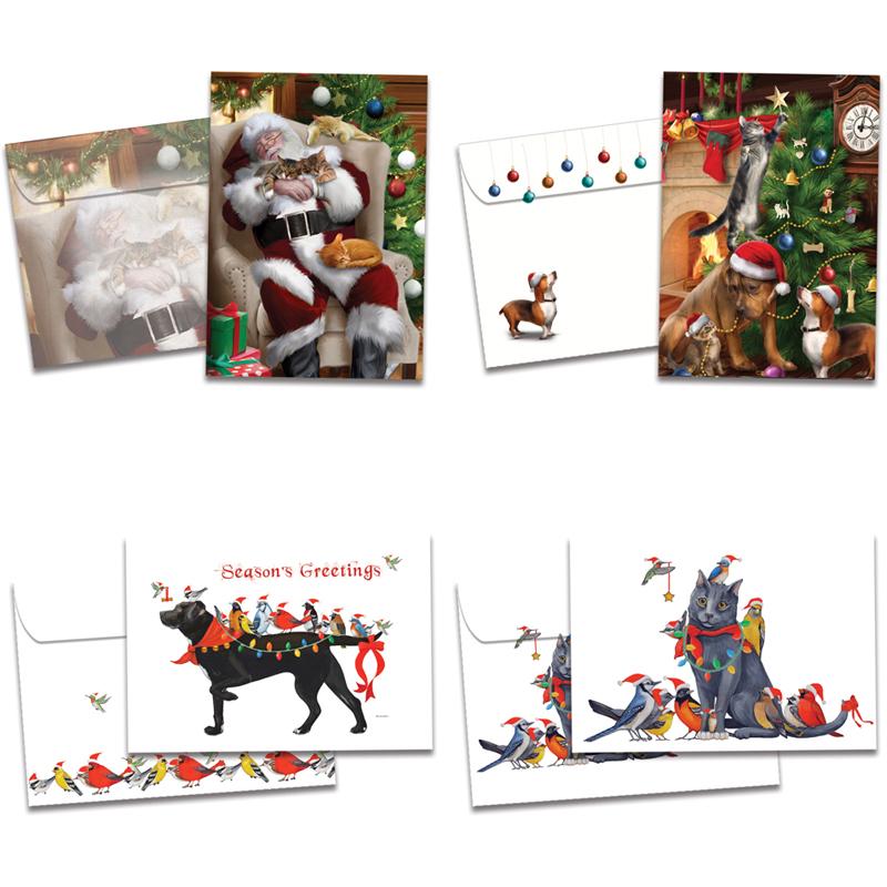 Tree-Free Greetings - Christmas 2020 Festive Friends Holiday Cards 16pk | Tree Free Greetings | EarthHero