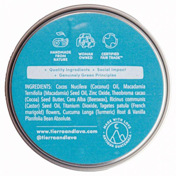 EarthHero -Turmeric & Vanilla Sunscreen SPF15 -2