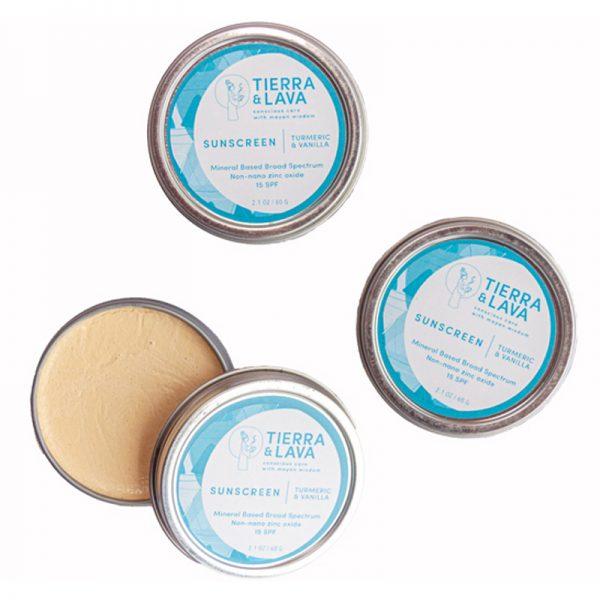 EarthHero -Turmeric & Vanilla Sunscreen SPF15 -3