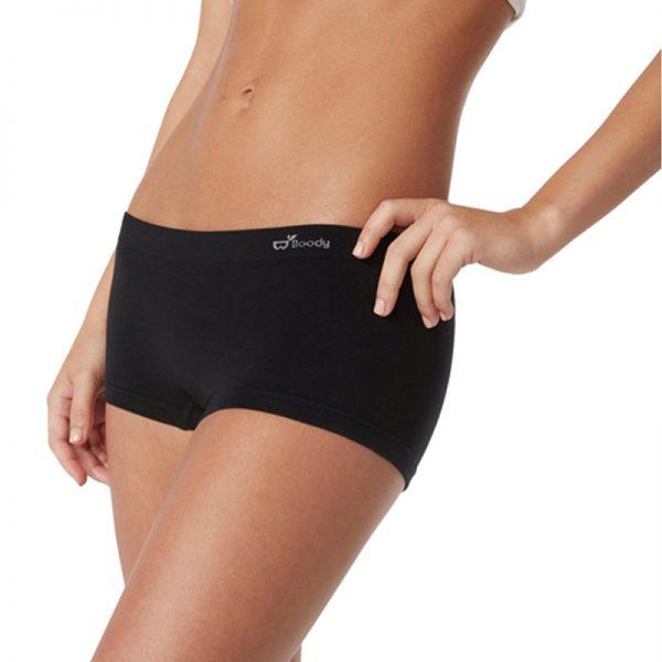 EarthHero - Bamboo Boyleg Underwear - Black - XL - 1