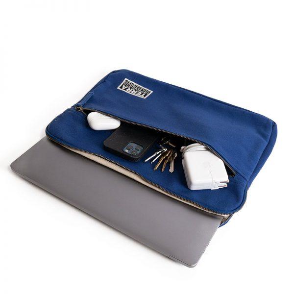 EarthHero - Organic Cotton Laptop Sleeve 15 - 17in - Royal Blue - 1